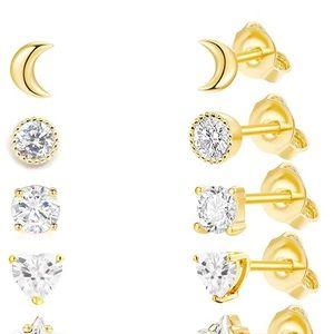 6 Pairs Stud Earrings